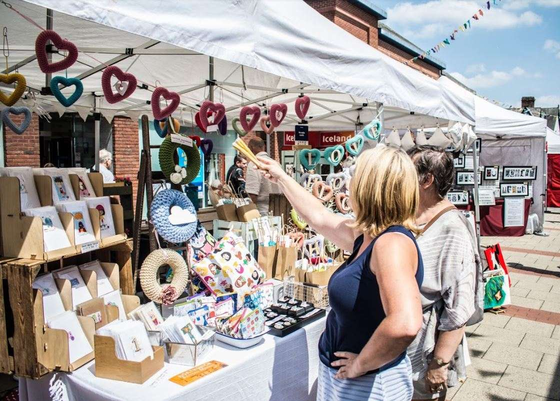 A stall at the Northwich artisan market.