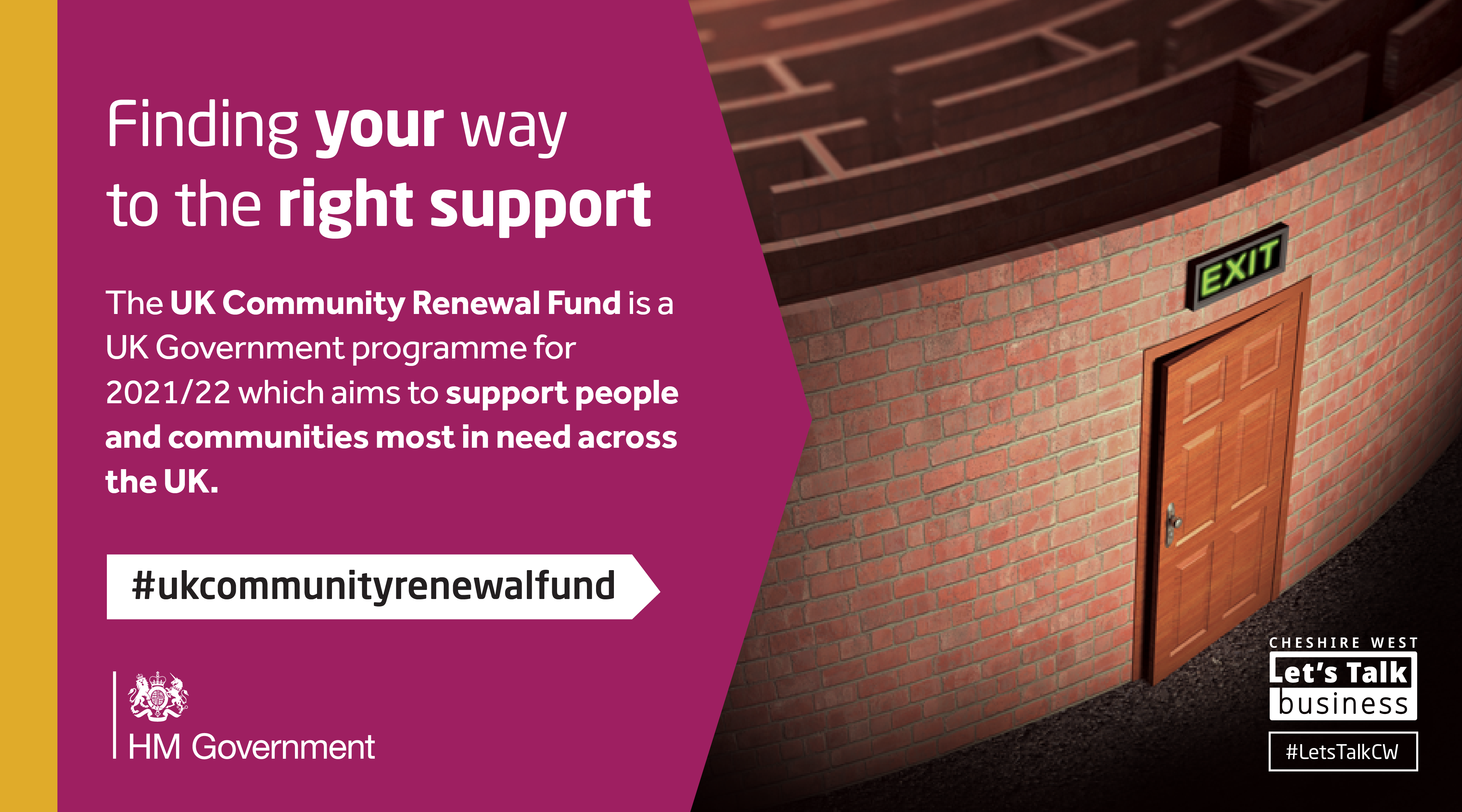 UK Community Renewal Fund will be used to develop projects which in turn will influence the shape of the UK Shared Prosperity Fund