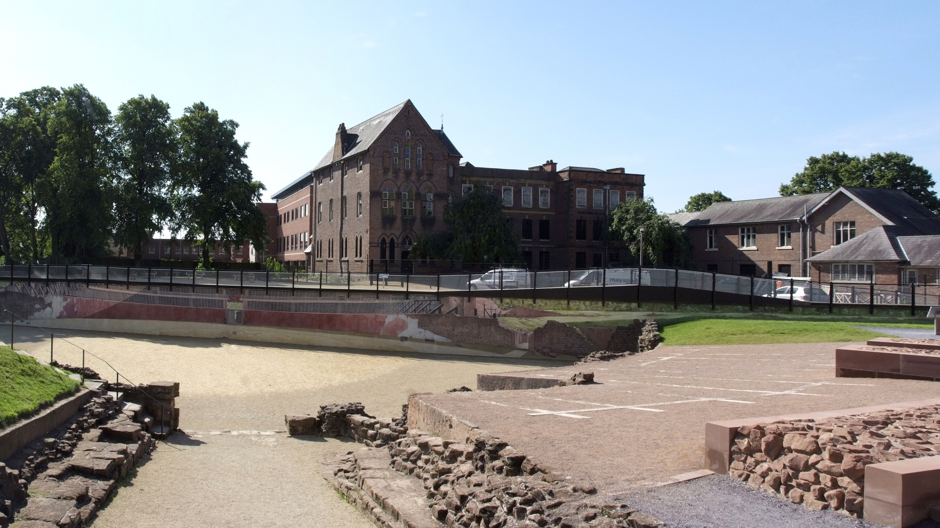 Dee House and the adjacent amphitheatre in Chester.
