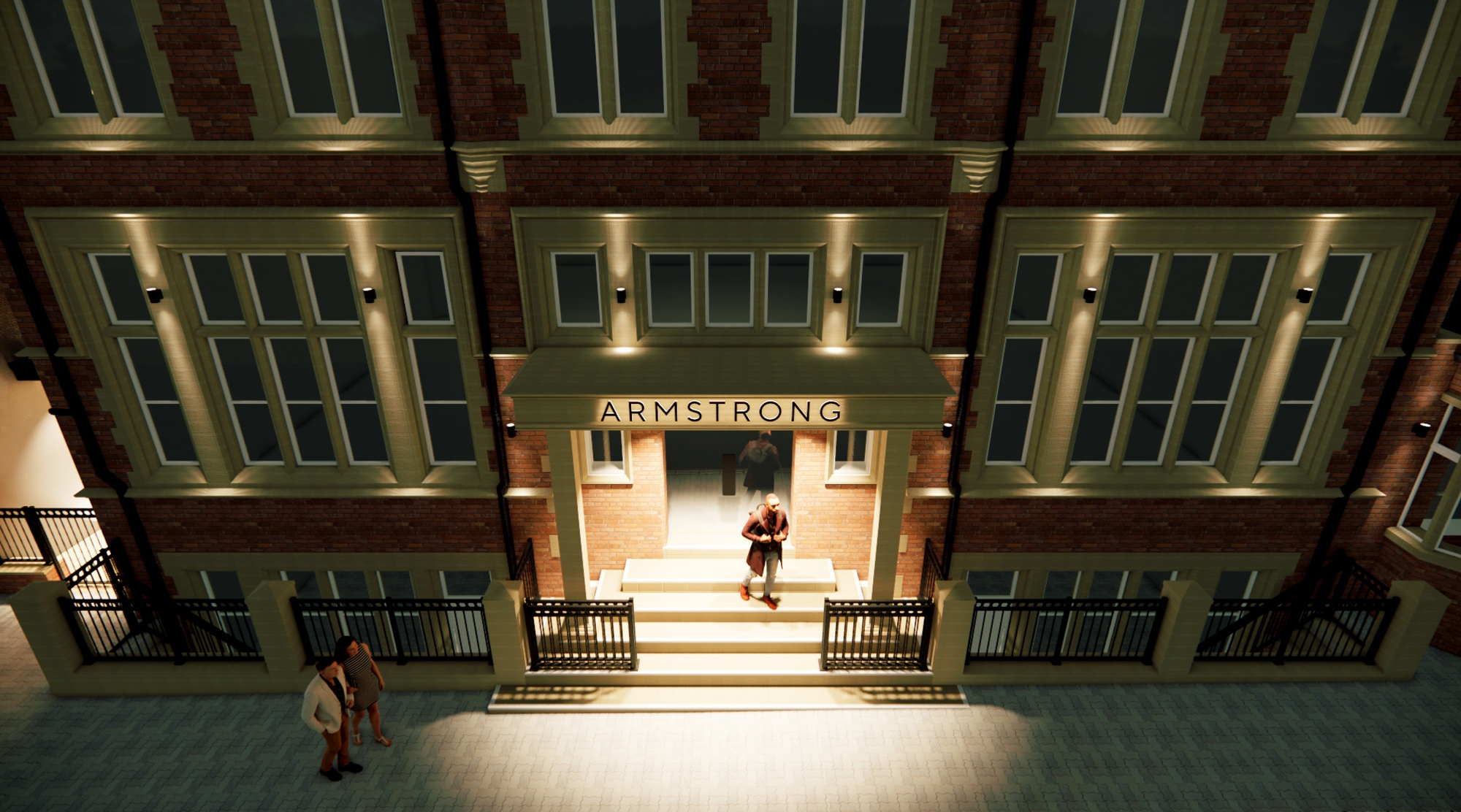 A mock-up of how the new Armstrong premises will look when works are complete