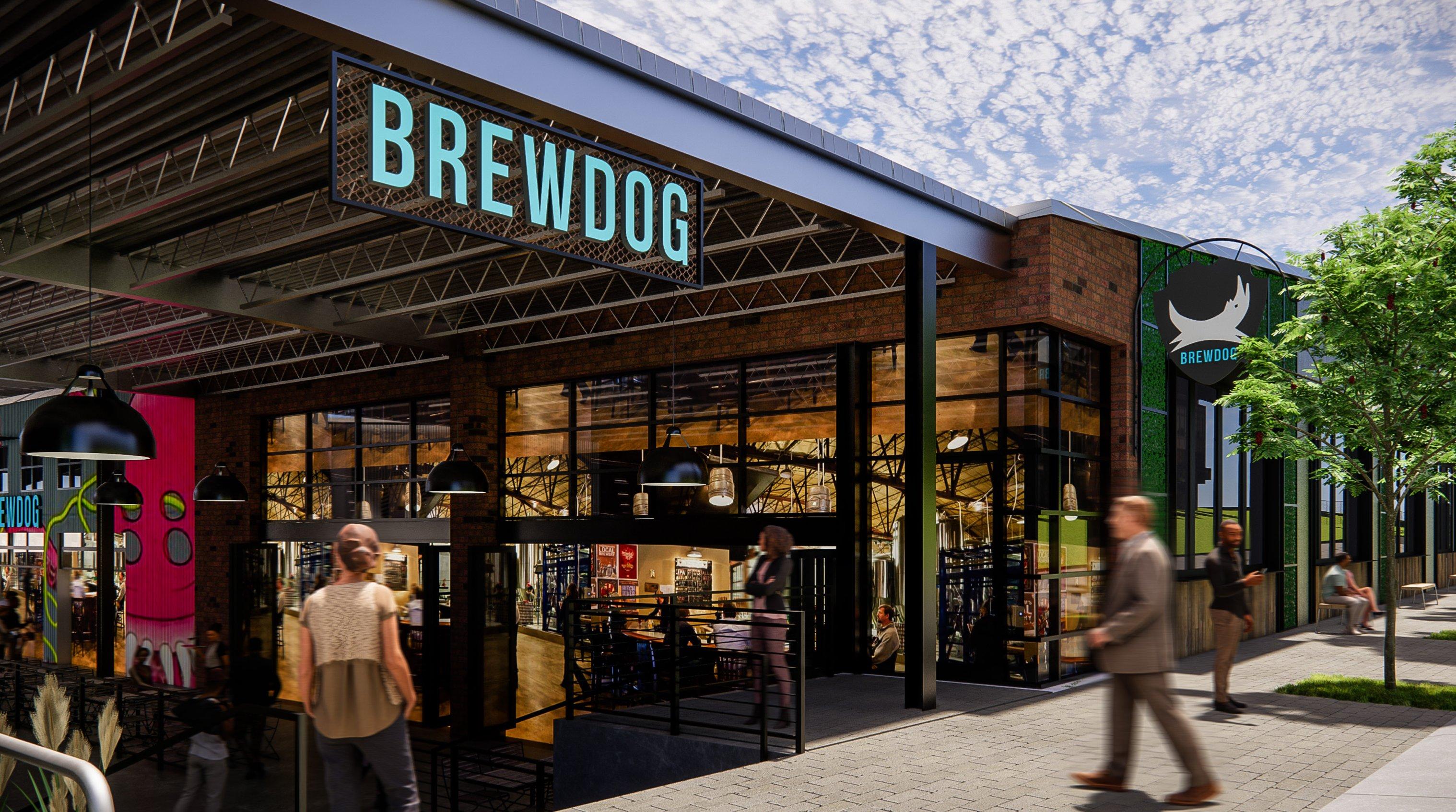 A mock-up of the new BrewDog bar in Atlanta.