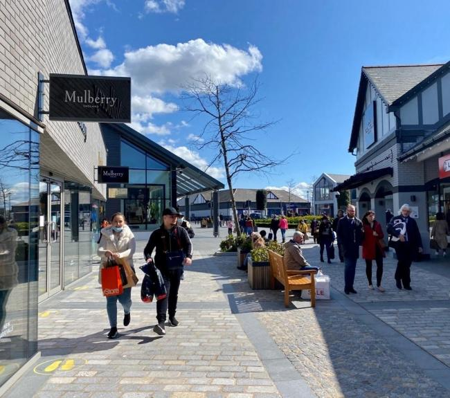 Shoppers returning to Cheshire Oaks