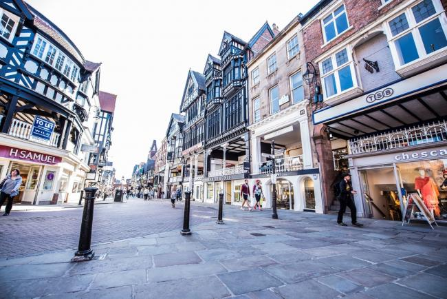 A photo of Chester city centre.