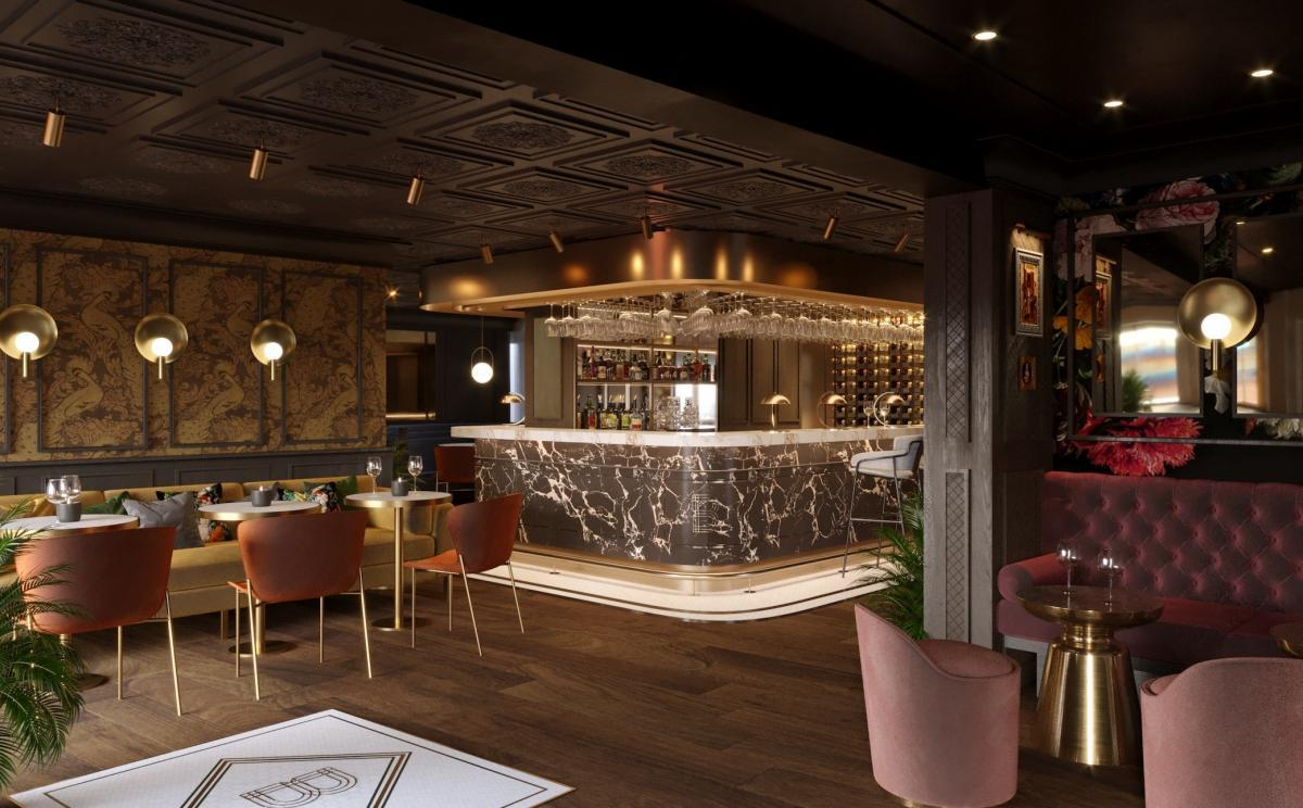 An artist's impression of how the new bar will look.