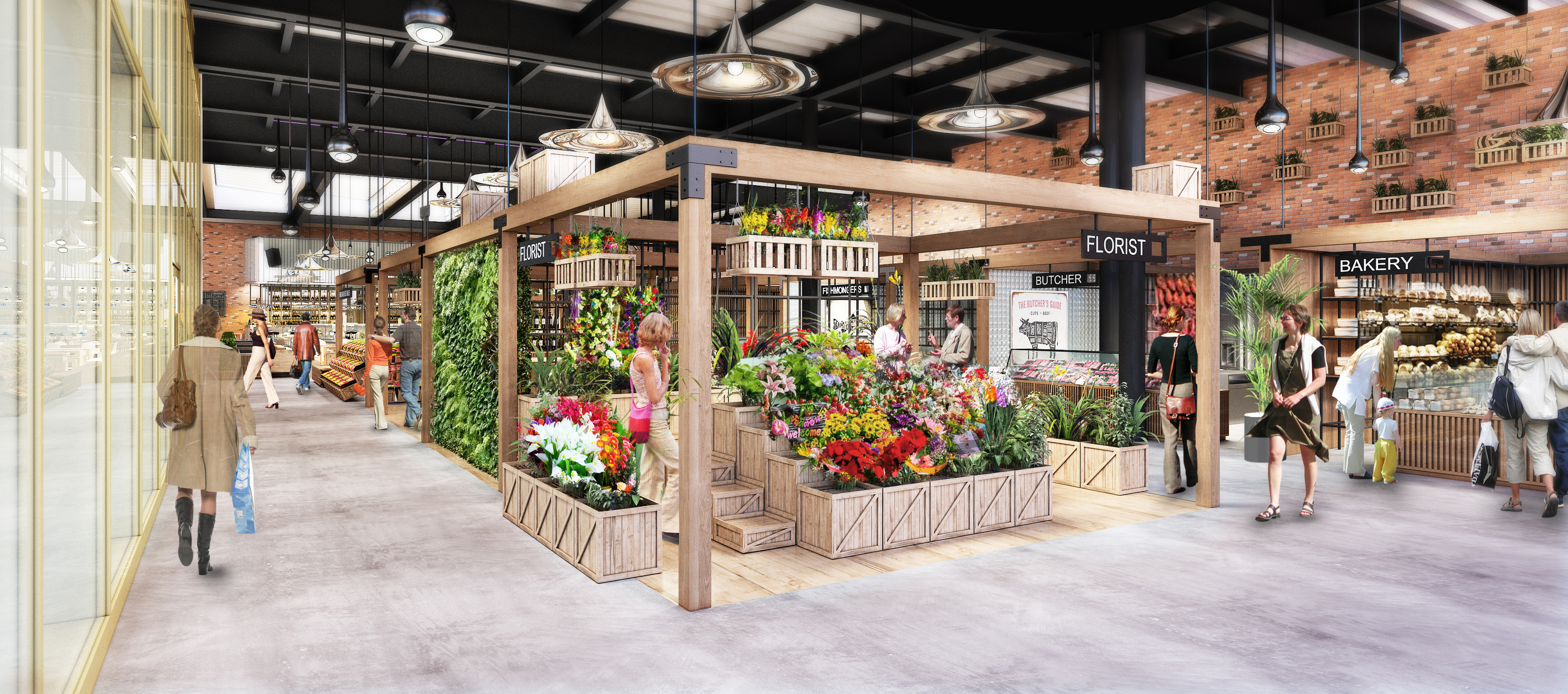 A mock-up of how the new market is expected to look