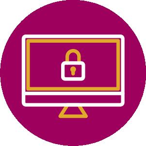 Locked computer image