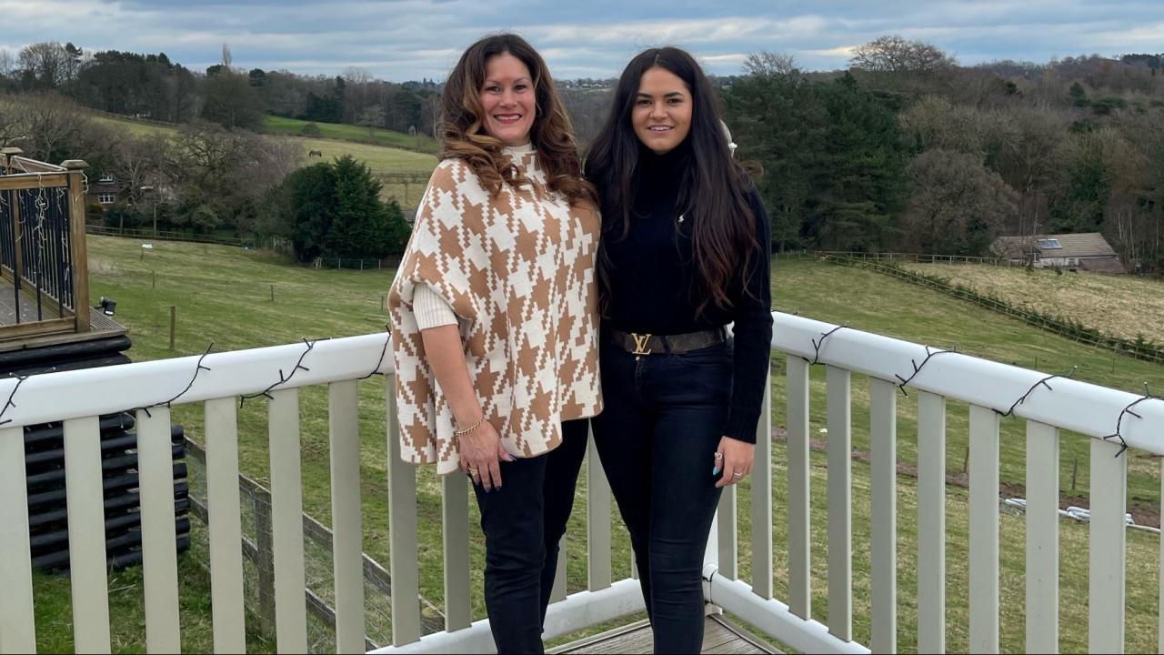 Carol Gerrard-Hughes and daughter Sophie. Photo: Insider Media