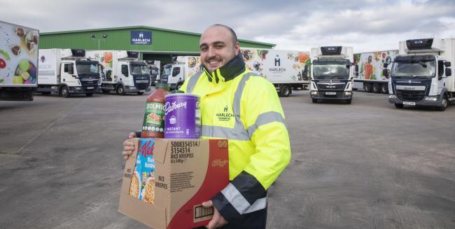 Harlech Foodservice delivery driver Tadek Jones. Credit: Mandy Jones