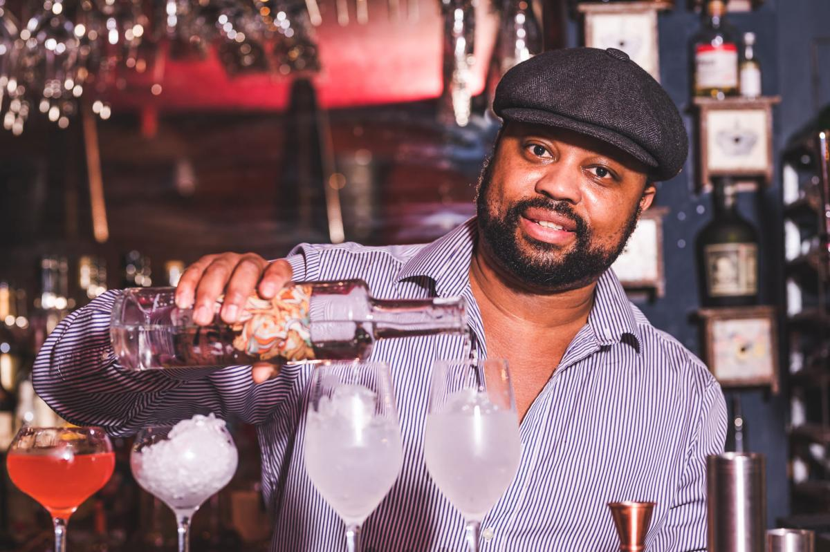 A photo of Kingdom Thenga, Founder of Kingdom's Gin and Kingdom Recommends. Credit: Nick Mizen/Chester Standard