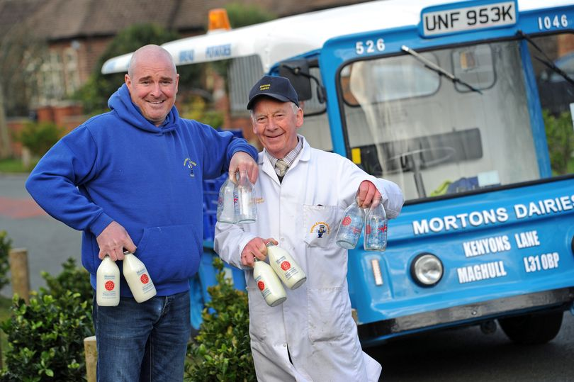 Norman and Julian Harrison, of Mortons Dairies.