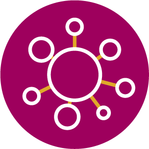 Image of connecting dots to depict networking