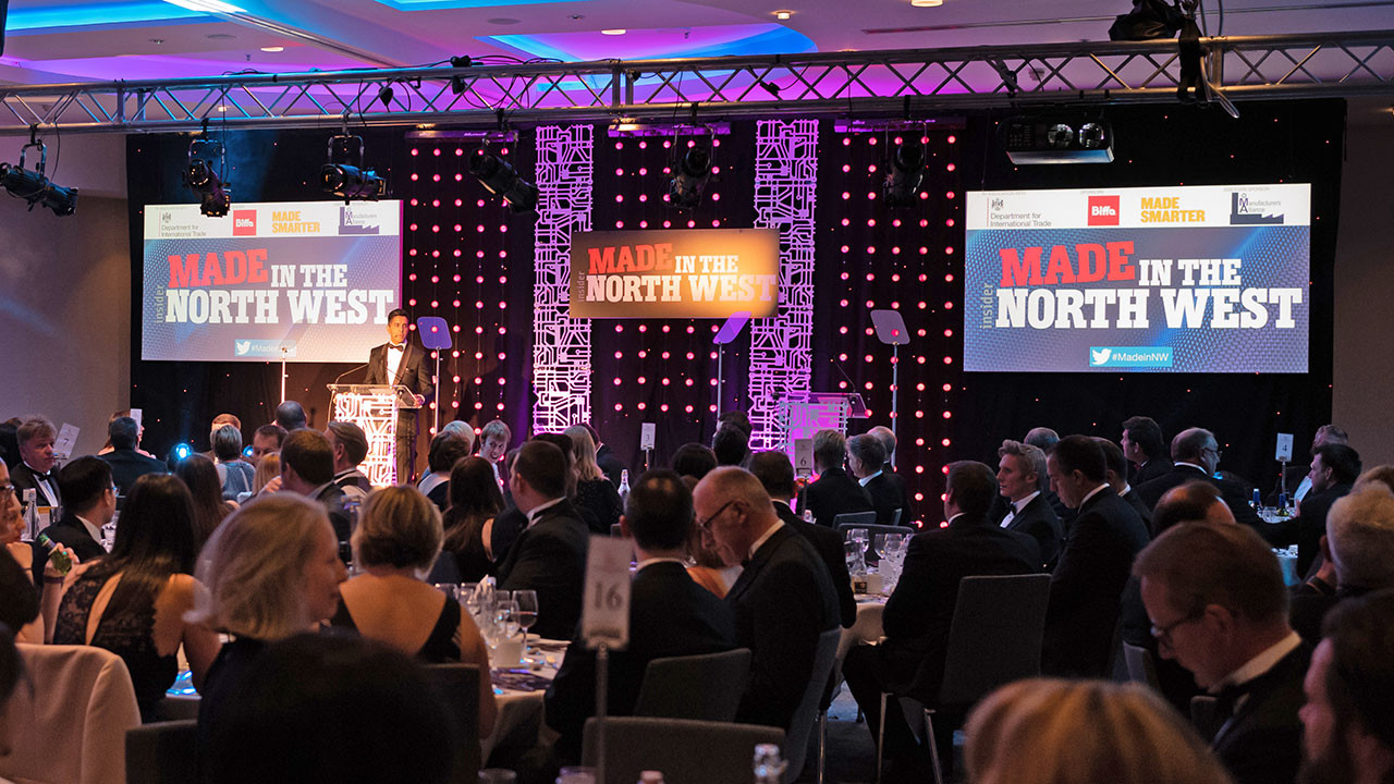 A photo of a previous year's Made in the North West Awards.