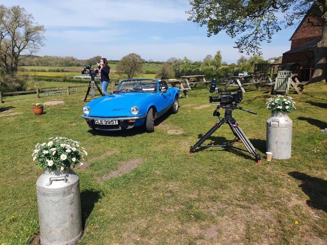 Antiques Road Trip being filmed at Riverside Organic